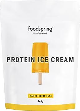 foodspring Helado Proteico, Mango, 240g, Tu polo de batido de ...