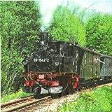 Serviettes train/train au choix 02 - Dampfeisenbahn
