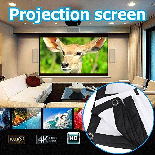 Anyutai Folding Projector Curtain 16:9 HD Display 60inch Projector Screen...