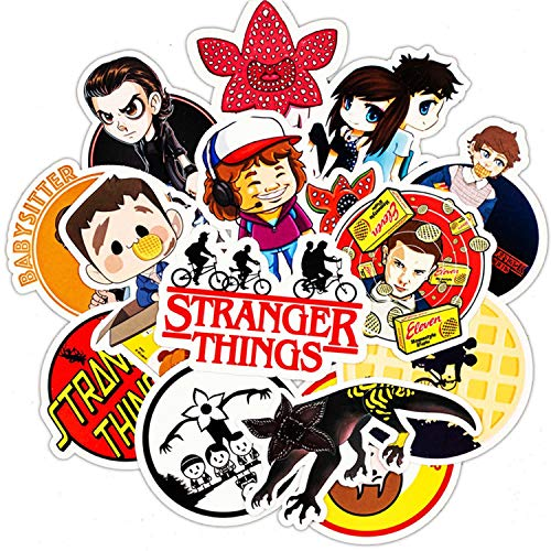 30 Pcs Stranger Things Sticker Pack Waterproof Stickers for Car Motorcycle Bicycle Skateboard Snowboard Laptop Luggage Vinyl Stickers Graffiti Bumper Decals