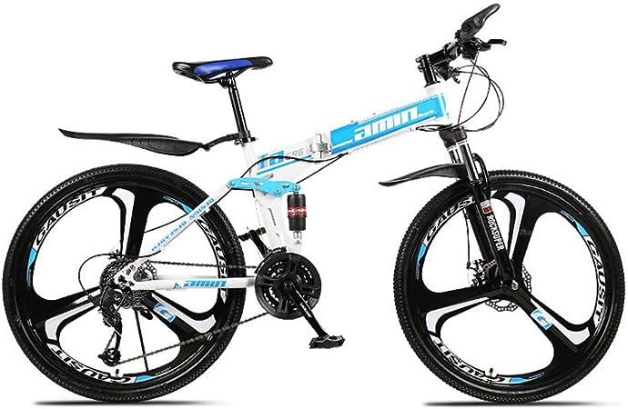 Grimk Bicicleta Montaña Plegable para Adultos Rueda De 26 Pulgadas ...
