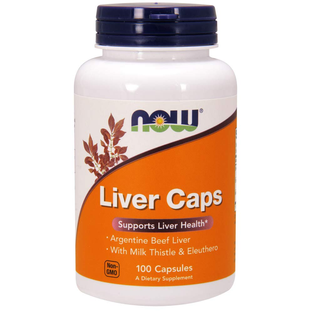 Now Supplements, Liver Caps with Milk Thistle and Eleuthero, 100 Capsules by NOW Foods