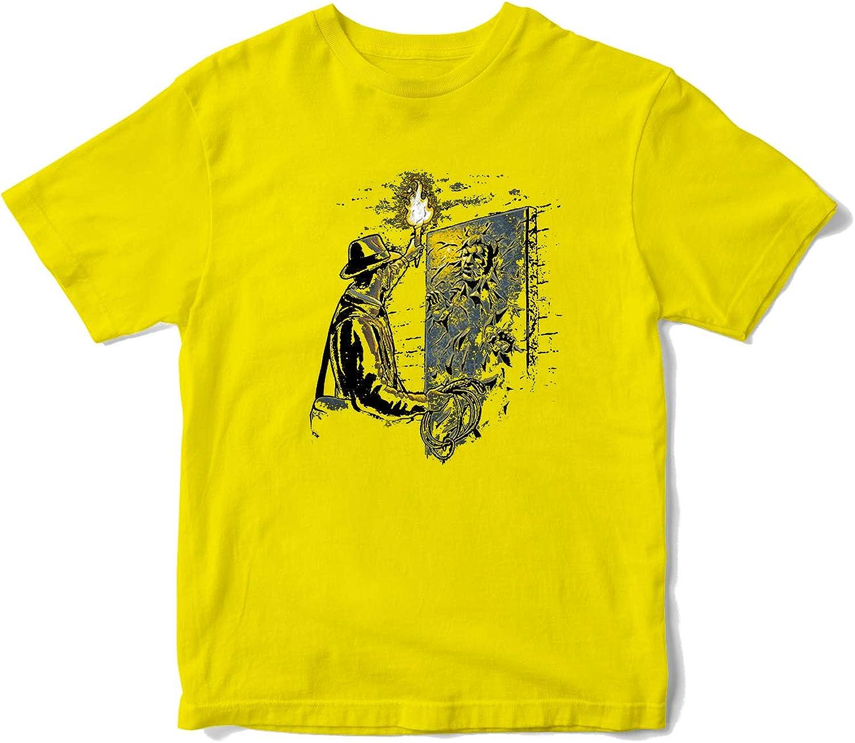 JEMASHOP Camiseta Hombre Amarilla Indiana Jones Y HAN Solo. Harrison Ford (XS-XXL): Amazon.es: Ropa y accesorios