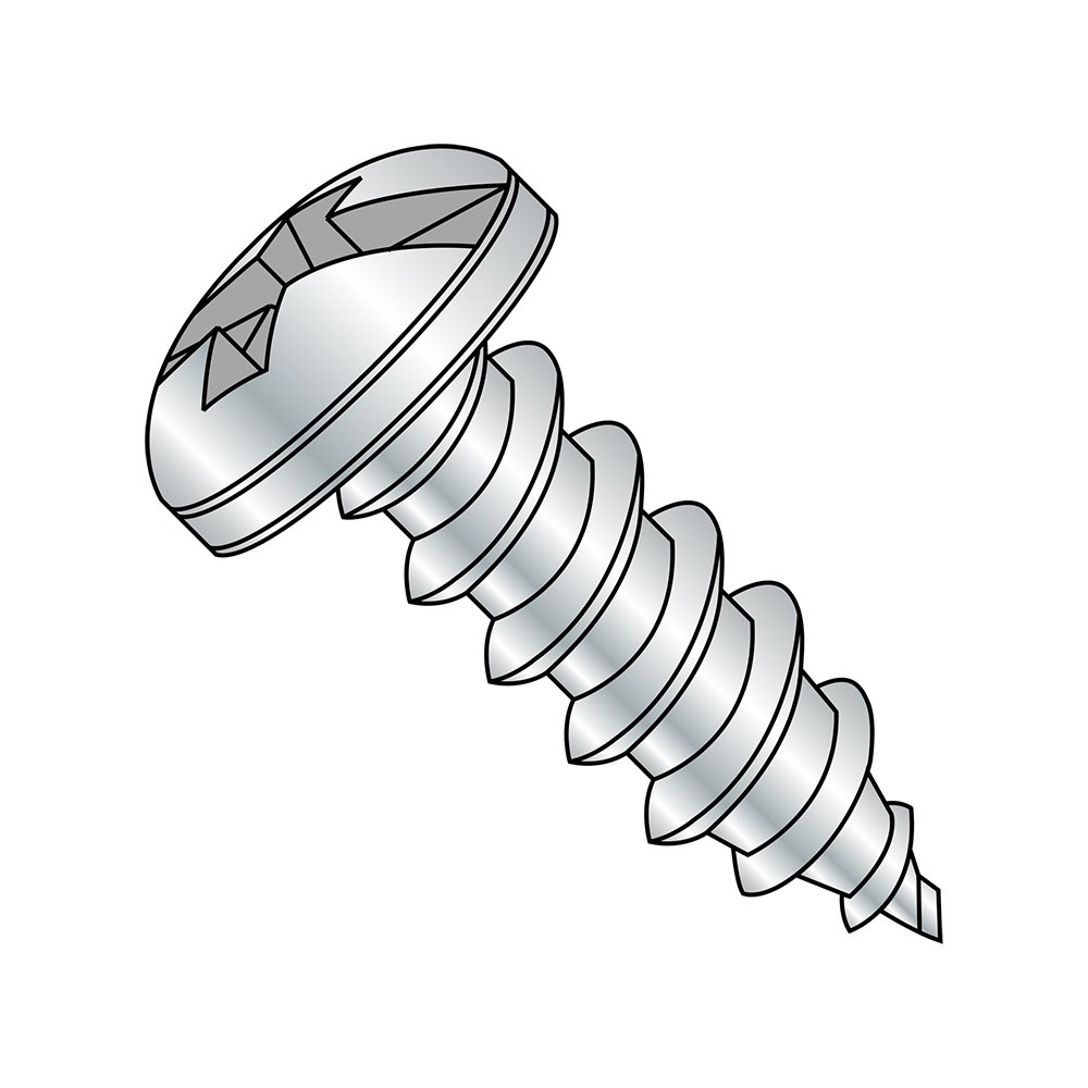 Small Parts 0410ABCP 5//8 Length Pan Head #4-24 Thread Size Pack of 100 5//8 Length Combination Phillips-Slotted Drive Pack of 100 Steel Sheet Metal Screw Zinc Plated Type AB