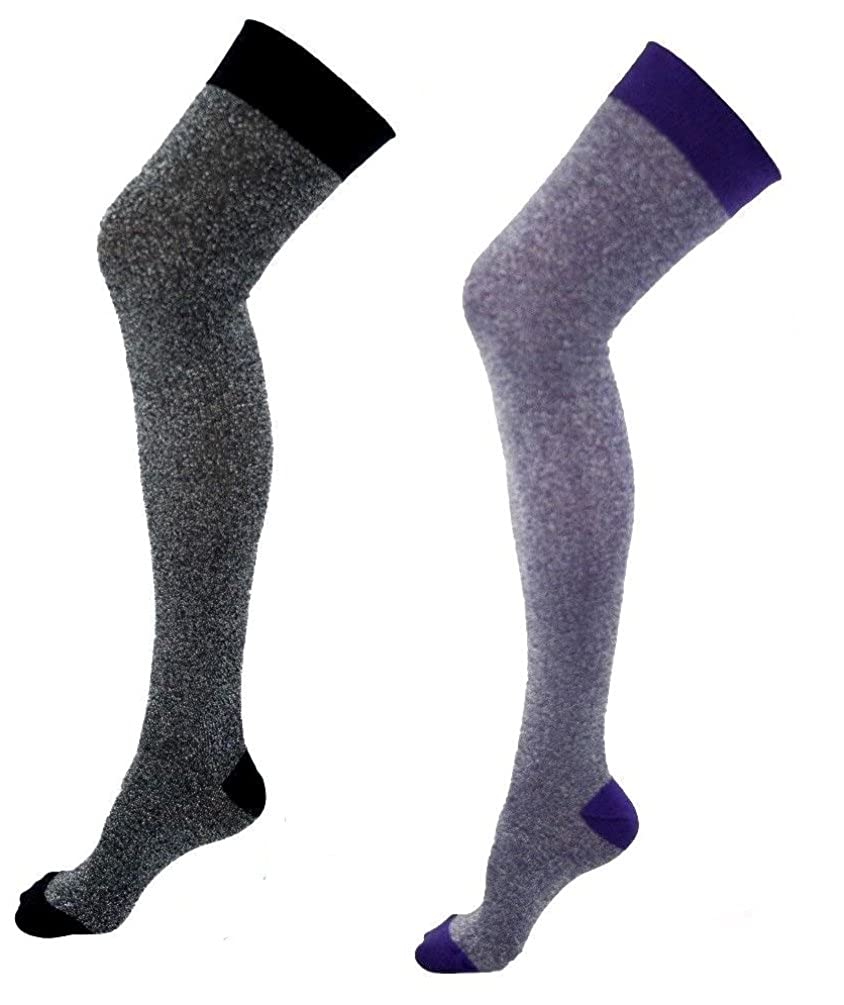catch best running shoes 2 Pairs Ladies Over The Knee Socks Womens Hold Ups Stockings ...