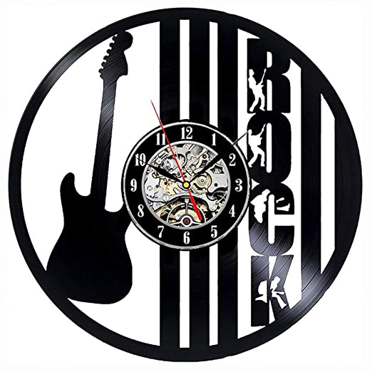 Reloj de Pared de Disco de Vinilo Diseño Moderno Tema de música ...