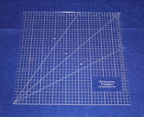 9'' Square Ruler. Acrylic 1/8'' thick. Quilting/Sewing by TCR Templates