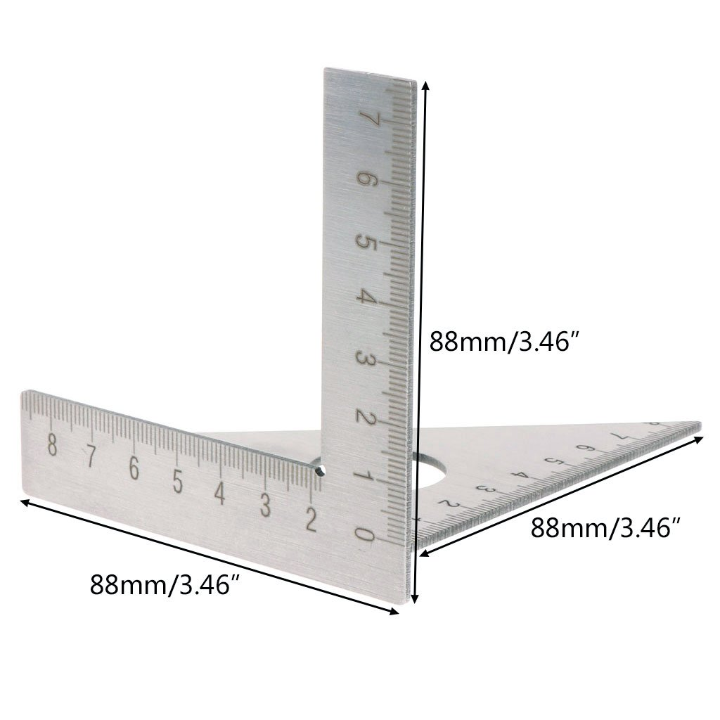 1Pc Woodworking Ruler Square Layout Miter Triangle Rafter 45 Degree 90 Degree Metric Gauge Measuring Tools Hand Tools Wang shufang WSF-Adapters