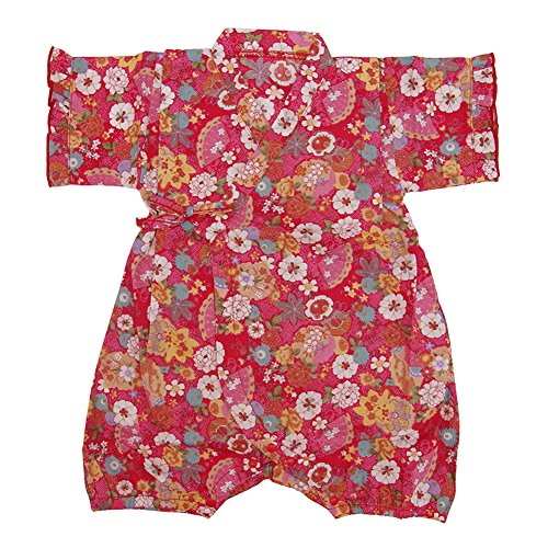 Baby Girl Clothes Organic Cotton Kimono Short Sleeve Romper Pajamas with Cute Pattern Watermelon Red 70 -