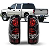 ZMAUTOPARTS Tail Brake Lights Rear Lamps Black For 1999-2006 Chevy Silverado / 1999-2003 GMC Sierra Pickup