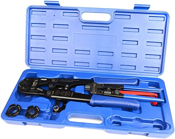 """PEX Crimp Tool Kit for 1/"""" and 1 1//4/"""" PEX tubing."""