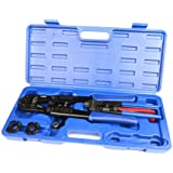 """IWISS IWS-FA PEX Pipe Crimping Tool for Crimp Jaw Sets 3/8"""",1/2"""",3/4"""",1"""" with PEX Ring Remove Tool & PEX Pipe Cutters suit Sharkbite, Watts, Apollo and All US F1807 Standards"""