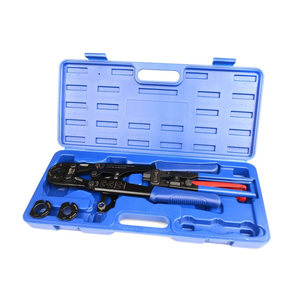 """IWISS IWS-FA PEX Pipe Crimping Tool for Crimp Jaw Sets 3/8"""",1/2"""",3/4"""",1"""" with PEX Ring Remove Tool & PEX Pipe Cutters suit All US F1807 Standards"""