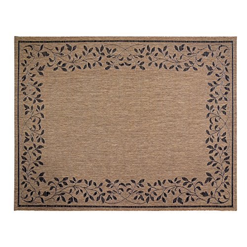 tical Tropical Carpet Outdoor Patio Rug, 8x10 Large, Floral Brown ()