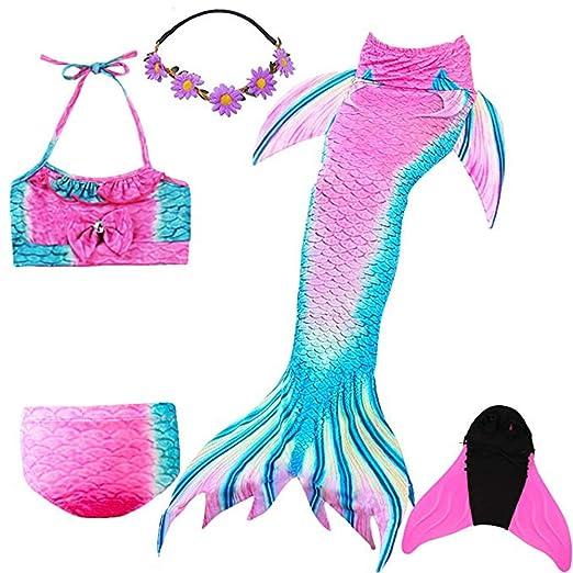 KJGFD Traje de baño con Cola de Sirena, Bikini Listo para ...