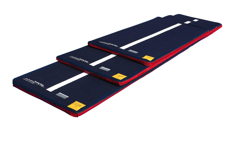 Tumbl TrakブルーデニムカバーAir床withホワイトラインダウンMiddle、ベルクロ、と滑り止め素材(カバーのみ) B006FFB8J6  6 m x 1.5 m