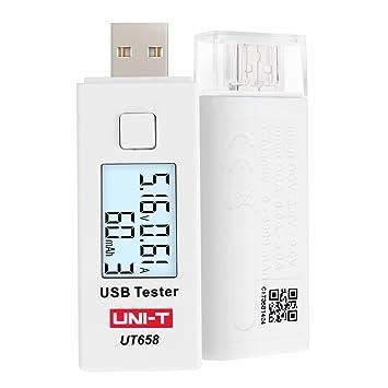 UNI-T UT658 USB Tester Voltmeter Amperemeter Digital LCD Spannung Monitor Strom Meter Kapazit/ät Tester UT658