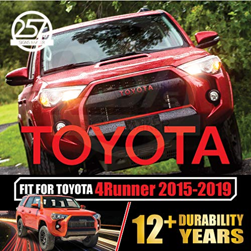 allWEATHER Toyota 4Runner TRD PRO Grill Vinyl Decals for 2015 2016 2017 2018 2019 Grille Logo Inlay Letters Overlay Sticker Set [Gloss ()