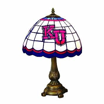 Amazon ncaa kansas jayhawks tiffany table lamp sports outdoors ncaa kansas jayhawks tiffany table lamp aloadofball Choice Image