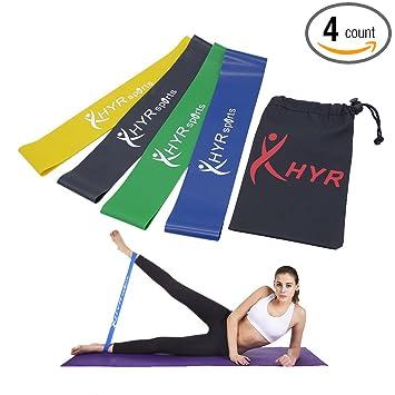 Amazon.com : HYR Fitness Workout Heavy Bands Yoga Pilates ...