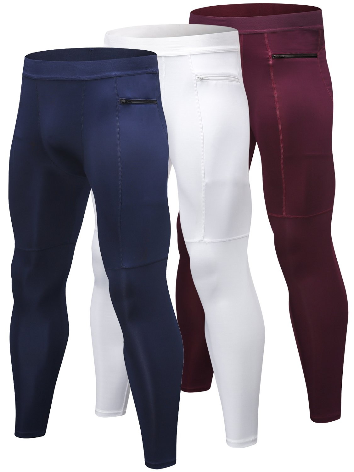3abf0741142b9 Galleon - Yuerlian Men's Compression Pants Cool Dry Baselayer Tights  Leggings 3 Pack