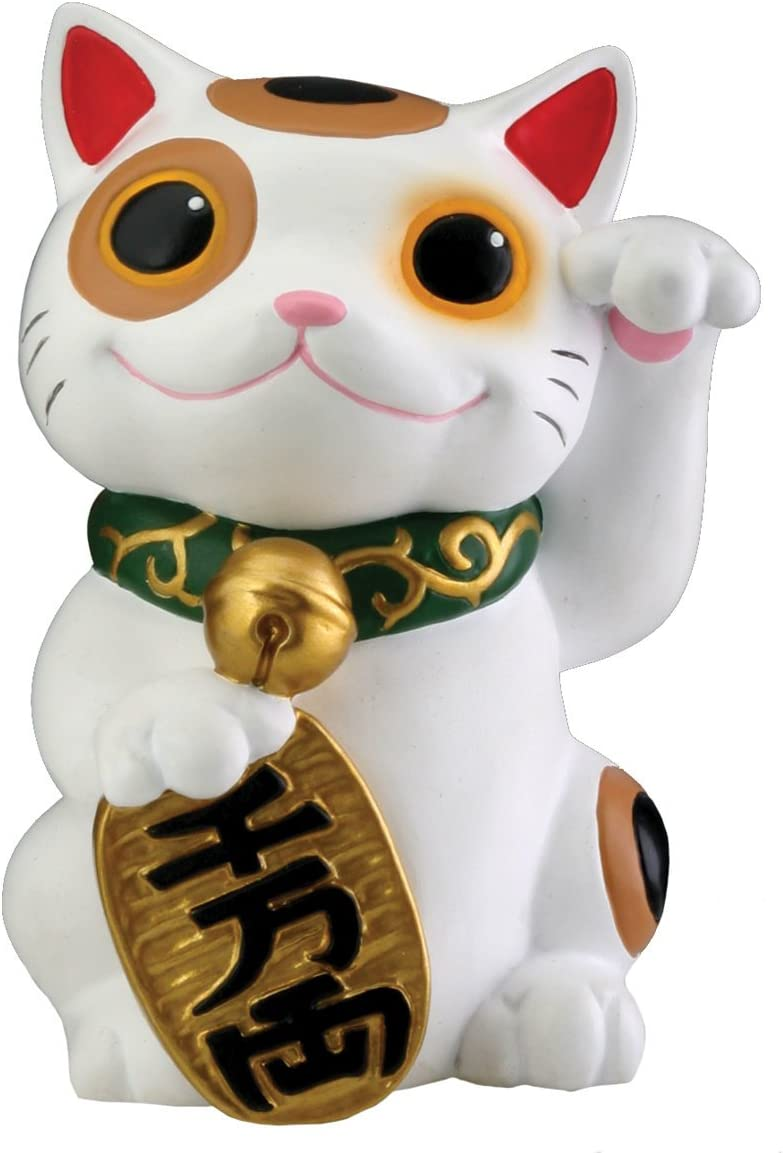 Maneki Neko Money Lucky Cat Chinese Japanese Statue