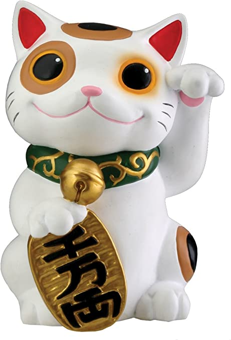 Lucky Cat Japanese Style Cartoon Long Tail Ornament Ceramic Home Decoration