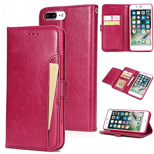 - Torubia iPhone 7 Plus iPhone 8 Plus case, Backcase iPhone 7 Plus iPhone 8 Plus Backcase Built-in Stand Function for iPhone 7 Plus iPhone 8 Plus - Peach Red Leather