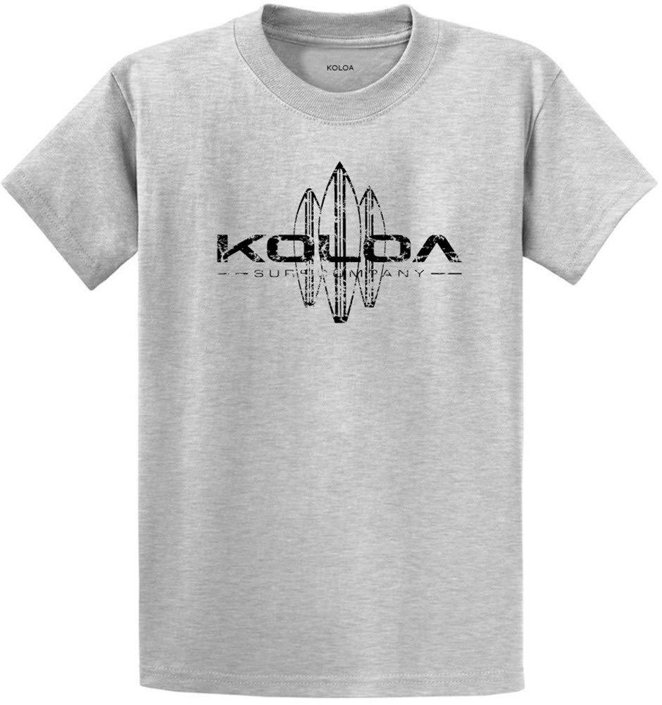 Koloa Surf Vintage Surfboard Logo Heavyweight Cotton T-Shirt-Ash/b-S