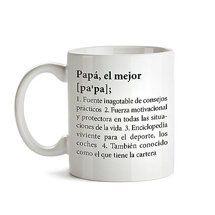 Tassenwerk Taza de Café con Mensaje – Definición Original del Mejor Papá – Ideales para Regalar
