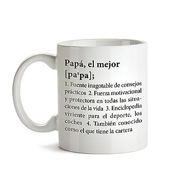 Taza de Café con Mensaje – Definición Original del Mejor Papá – Ideales para Regalar en el Día del Padre – Regalos para Cumpleaños – Detalles Bonitos ...