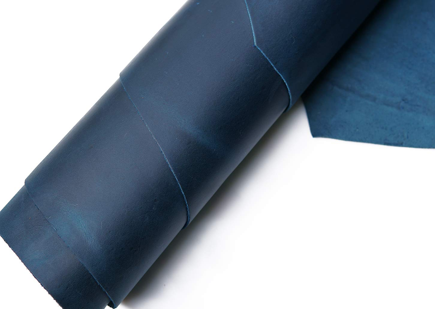 Tooling Leather Square 2.0mm Thick Finished Full Grain Cowhide Leather Crafts Tooling Sewing Hobby Workshop Crafting Leather Accessories (Blue, 12X24inches)