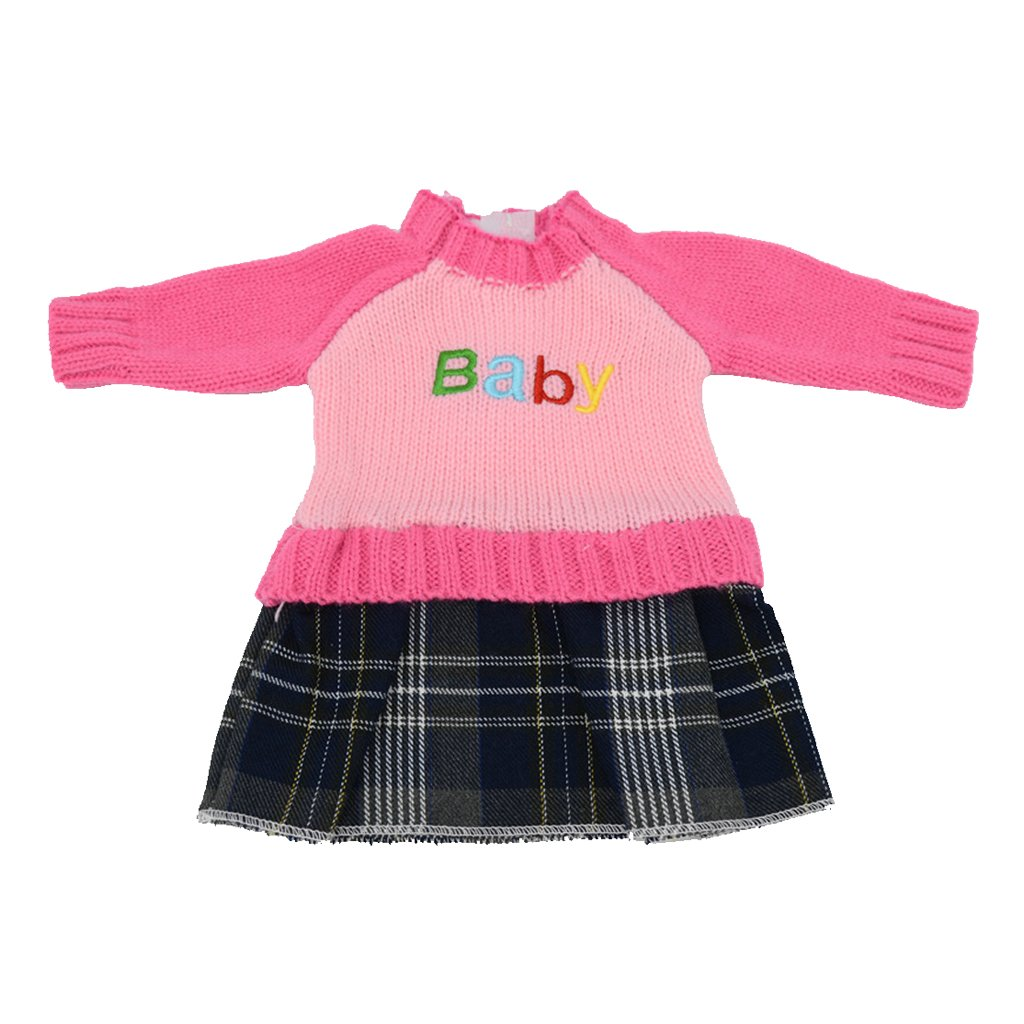 50ce74d4bf MagiDeal Cute Long Sleeve Knit Crewneck Sweater Dress For 18   American Girl  Doll Clothing - Rose Pink Dress  Amazon.co.uk  Toys   Games