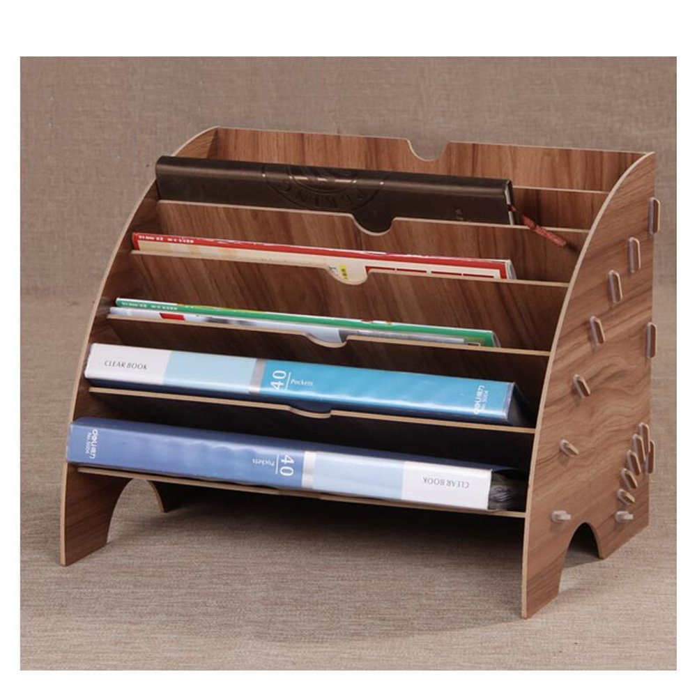ZAIYI Bücherregal Von Fächerförmige Datenbehälter Aus Holz Holz Holz Dokumentenhalter Bürobedarf Tischmagazin Regale,WoodFarbe B07CQRQQ6N | Roman  614165
