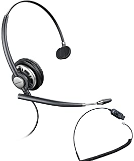 Avaya Compatible Plantronics VoIP Ultra Noise Canceling HW710 (HW291N) Headset Bundle | Avaya 1600