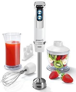Concept Electrodomésticos TM-4750 Batidora de Mano, Función Turbo, 1000 W, 0.8 litros, Acero Inoxidable, Blanco: Amazon.es: Hogar