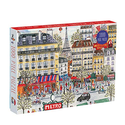 Paris Metro Eiffel Tower - Galison Michael Storrings Paris Puzzle, 1,000 Pieces, 20