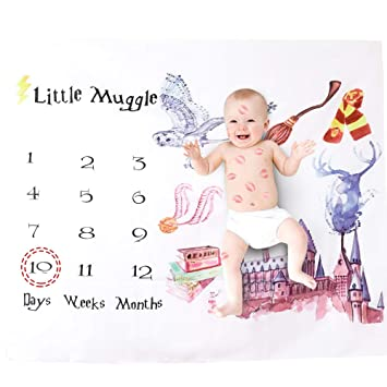 Baby Infant Muggle Cotton Swaddle Blanket Photography Props Backdrops Wrap