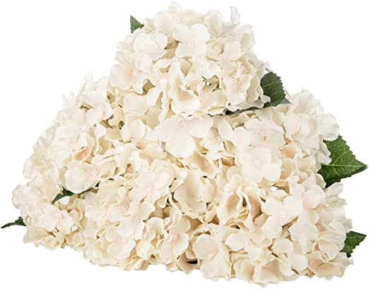 Amazon Com Luluhouse Silk Hydrangea Heads With Stems Bulk