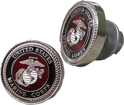 United States USMC Emblem License Plate Bolts Set of 2