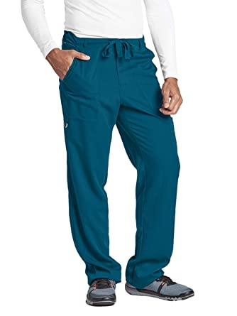 806e52c421e Amazon.com: Barco Men's Big 6 Pocket Zip Fly Drawstring Scrub Pant ...