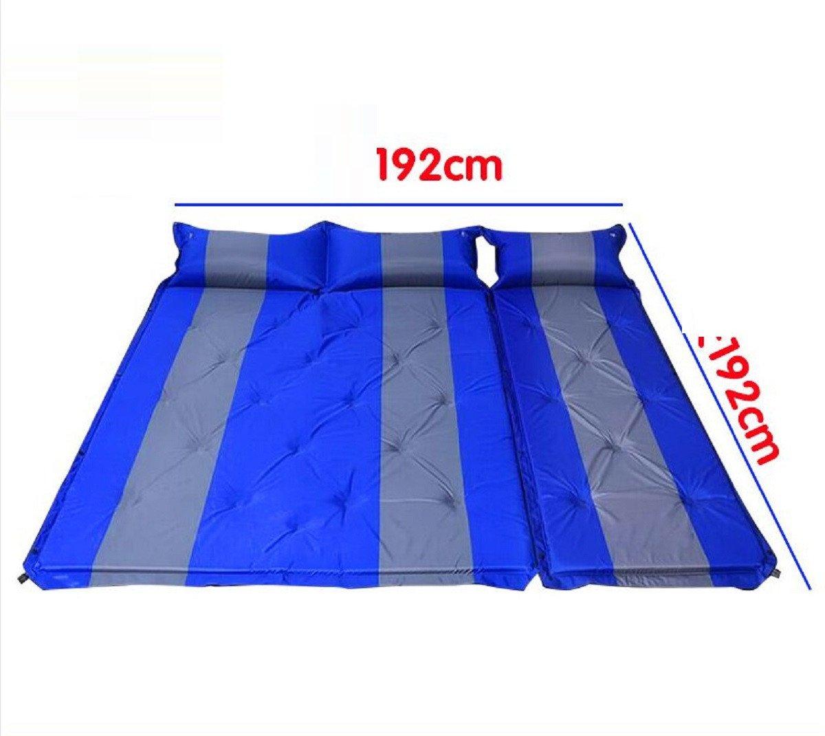 YOPEEN Automatische aufblasbare Kissen, Outdoor-Zelt Isomatte, Matratze, Tragbare Gepolsterte Feuchtigkeitsmatte, Wilde Doppelte Bodenmatte Isomatte, 132X192CM, A