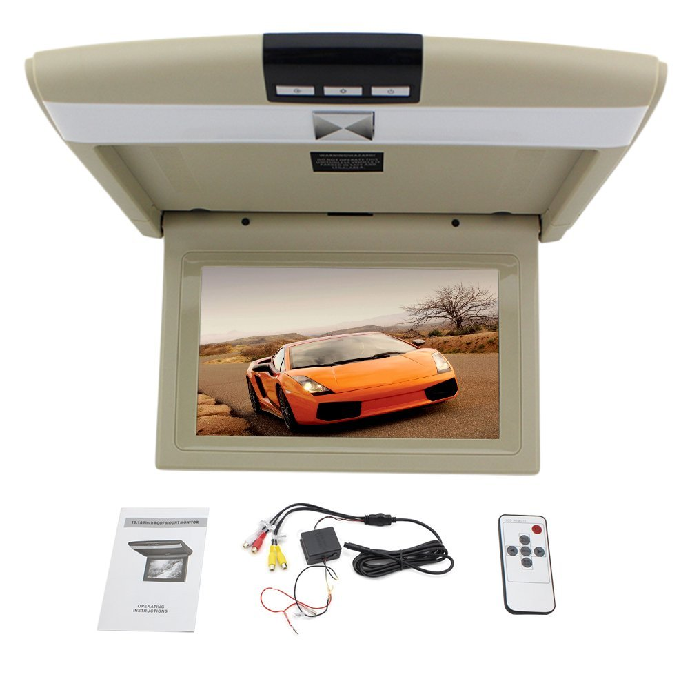 New 10.1 inch Car Roof Mounted Display car Monitor LED Digital Screen car Ceiling Monitor flip Down Monitor Car Drop Down Over Head Monitor EinCar Direct kOU.XN.1011M1
