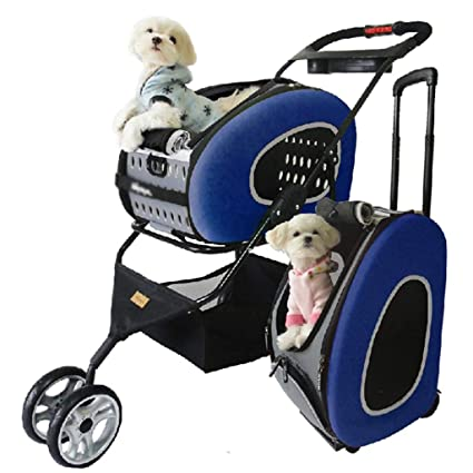 chongwubao Carretilla para mascotas, carretilla para gatos / perros, bicicleta plegable a mano,