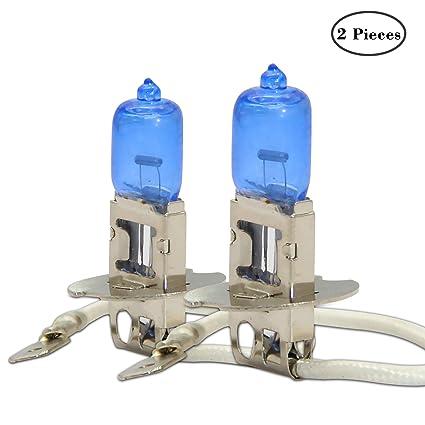 2x H3 Supper White Gas HID Headlight Head Light Lamp Bulb 100W