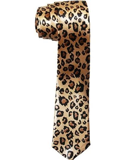 f6a0799829a6 Amazon.com: Leopard Animal Print Skinny Tie: Clothing