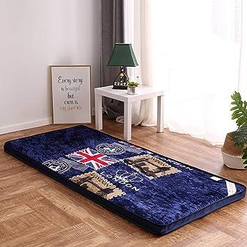HM&DX Flanelle Matelas futon, Matelassée Souple Japonais ...