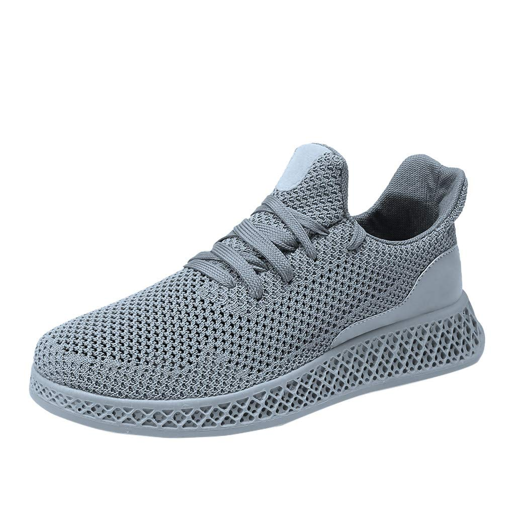 Fashion Mens Mesh Sneakers Lace-up Lightweight Breathable Ultimate Athletic Running Walking Casual Shoes