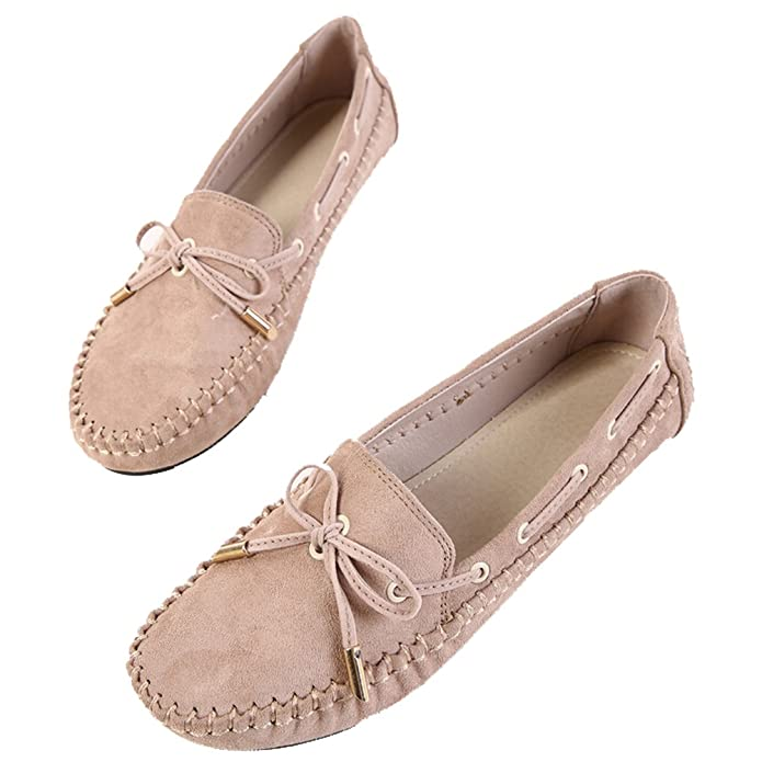Hattie Women Bowknot Moccasin Boat Shoes Loafers For Shopping Driving:  Amazon.co.uk: Shoes & Bags