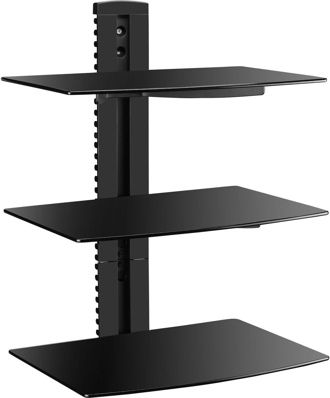 audio video shelving amazon com rh amazon com TV Wall Mounts Wall Mount TV Component Shelf